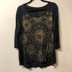 Lucky Gold Foil Graphic Tunic